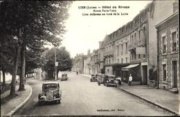 Cp Gien Loiret, Hôtel Du Rivage, Route Paris Vichy, Citroen Traction Avant - Altri Comuni
