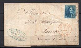 Nr 2 Op Brief Van Louvain (P 76) Naar Laroche - 08 Aout 1850 - 1849 Epaulettes