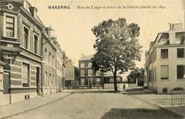 026 854 - CPA - Belgique - Waremme - Rue De Liège Et Arbre De La Liberté - Waremme