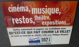 Carte Postale - Qu'est-ce Qui Fait Couri La Ville ? Europe 2 (radio FM) Avec Philippe Despont - Marseille - Publicité