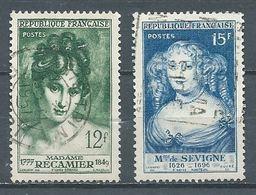 France YT N°874-875 Madame De Sévigné - Madame Récamier Oblitéré ° - Used Stamps