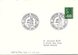 FLEURS FLORALIES - EXPO PHIL 10e ANNIVERSAIRE CENTRE CULTUREL 5 DECEMBRE 1975 FONTENAY AUX ROSES 92  / 1 - Marcofilia (sobres)
