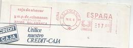 ESPAÑA FRANQUEO MECANICO METER SALAMANCA SAJA DE AHORROS BANK - 1931-Hoy: 2ª República - ... Juan Carlos I