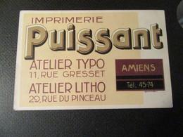 AMIENS Imprimerie PUISSANT - Stamperia & Cartoleria