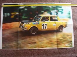 Grand Poster Simca Rallye 2 , S R T .Original 1970 + . - Voitures (Courses)
