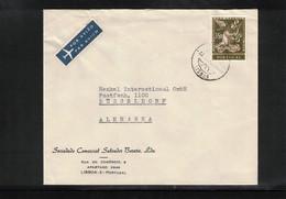 Portugal 1962 Interesting Airmail Letter - 1910-... République