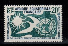 AEF - YV 245 N** Droits De L'homme Cote 2 Euros - Unused Stamps