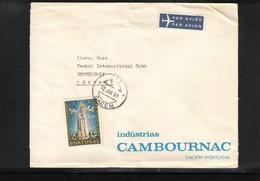 Portugal 1968 Interesting Airmail Letter - 1910-... République
