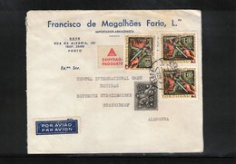 Portugal 1965 Interesting Airmail Letter - 1910-... République
