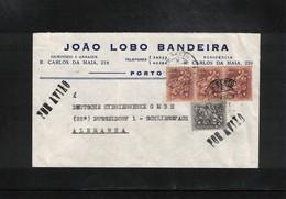 Portugal 1959 Interesting Airmail Letter - 1910-... Republic