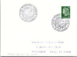 FLEURS FLORALIES - SALON INTERNATIONAL DU DALHIA FLORALIES 17.9.72 CHATEAUROUX 36 / 1 - Marcofilia (sobres)