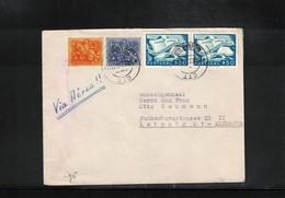 Portugal 1951 Interesting Airmail Letter - 1910-... Republic