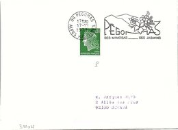 FLEURS FLORALIES - PEGOMAS SES MIMOSAS SES JASMINS - 17.12.1973 ALPES MARITIMES  / 1 - Gedenkstempels