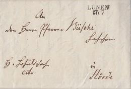 Preussen Brief L2 Lünen 17.7. Gel. Nach Hörde Mit Inhalt - Preussen