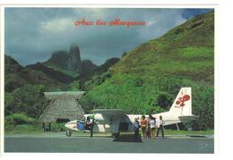 CPM Polynésie ILES MARQUISES UAPAU Aéroport Airport Aeroporto Flughafen Avion Airplane 1987 - Aérodromes