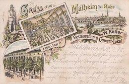 Gruss Aus Mülheim An Der Ruhr. Kaiser-Saal, Restauration Und Concert-Lokal W. Kötter. Soldatenbrief, 1898. - Muelheim A. D. Ruhr