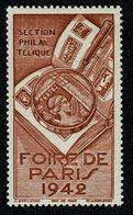 !! 1942 FOIRE DE PARIS  Section PHILATELIQUE ** Sans Charnière Gomme Intacte Vignette De Qualité  !! - Other