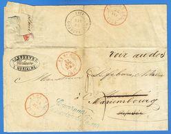 1854 Pli Non Affranchi De Namur Vers Morialmé (càd Florennes), Refusé, Redirigé Vers Mariembourg, Taxé 3. - Belgique