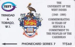 245CTTA TARJETA DE TRINIDAD Y TOBAGO DE THE UNIVERSITY OF THE WEST INDIES - Trinidad En Tobago