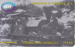 205CTTD TARJETA DE TRINIDAD Y TOBAGO DE UN TREN (TRAIN-ZUG) - Trinité & Tobago