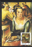 Croatia, Croazia, Hrvatska 2011; Donna Con Gatto Nero, Visual Art , Woman With Black Cat; Maximum Card. - Gatti