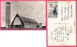 Cp Dentelée - Ouagadougou - Eglise Du Sacré Coeur - Timbre 15 F A.O.F. Centenaire Troupes Africaines Général FAIDHERBE - Burkina Faso