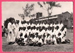 Cp Dentelée - Koudougou - Séminaristes Indigènes Du Diocèse - Haute Volta - Animée - Pères Blancs - Burkina Faso