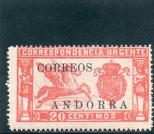 ANDORRE ESPAGNOLE 1928 * - Andorra Spagnola