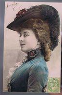 Artiste 1900 - Cécile Sorel - Colorisée - Cliché Reutlinger -Sip 1342 - Theatre