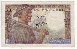 (Billets). France. 10 Fr Mineur 26.09.1946 - 1871-1952 Anciens Francs Circulés Au XXème