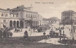 TORINO-PIAZZA SAN MARTINO-ANIMATISSIMA-CARTOLINA NON VIAGGIATA -ANNO 1908-1915 - Piazze