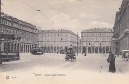 TORINO-PIAZZA DELLO STATUTO-TRAM E PARROCO-CARTOLINA NON VIAGGIATA -ANNO 1910-1920 - Piazze