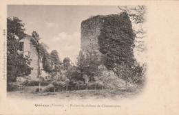 *** 86  ***  QUEAUX  Ruines Du Château Chamouneau Neuve Excellent état - Otros Municipios