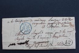 1835 LAC PARIS CACHET BLEU DU 25/07/1835 POUR AIX En PROVENCE CAD ARRIVEE TYPE 13 DU 28/07/1835 MARQUE RURAL I.d - Marcophilie (Lettres)