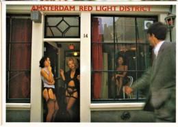 AMSTERDAM RED LIGHT DISTRICT - PROSTITUTION, LINGERIE - CPM TBon Etat (voir Scan) - Nus Artistiques (1960-…)