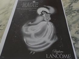 ANCIENNE PUBLICITE PARFUM MAGIE DE LANCOME PARIS 1951 - Parfum & Kosmetik