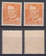 Dänemark Denmark Mi# 308 I + II ** MNH Frederik IX 1948 - Dänemark