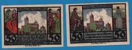 Rudelsburg Bei Bad Kösen Burgwirt 2 X 50 PFENNIG No Date (1921) - [11] Emissions Locales