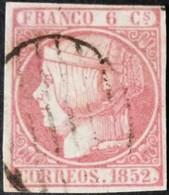España: Año. 1852 - ( Isabel II. 6 Cu. Lujo.) - 1850-68 Royaume: Isabelle II