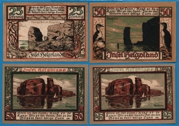 INSEL HELGOLAND 2 X 25 + 2 X 50 PFENNIG 04/1921 - [11] Emissions Locales