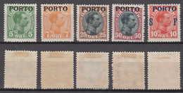 Dänemark Denmark Porto Mi# 2 + 3 + 6-8 * Mint Overprint 1921 - Port Dû (Taxe)