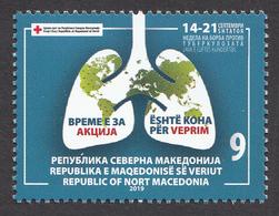 North Macedonia 2019 Red Cross Croix Rouge Rotes Kreuz Tuberculosis TBC Health Medicine Stamp MNH - Macedonia