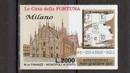 Gratta E Vinci- 1995- Città Della Fortuna - MILANO - Billets De Loterie