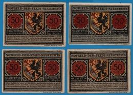 Neustettin Stadt 4 X 50 Pfennig  15/11/1921  NOTGELD - [11] Emissions Locales