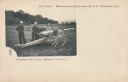 Hauteurs De Mirecourt - 20ème Corps - Manoeuvres D'Automne De La 11ème Division (1902) - Chargement De La Pièce - Mirecourt
