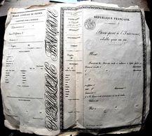PASSEPORT  A L'INTERIEUR VIERGE DES ANNEES 1850 GRAVE ET ORNEMENTE VALABLE POUR UN AN  TRES BON ETAT 40 X 35 CM - Documents Historiques