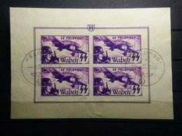 Deutsche Besetzung Belgien Flamische Legion  Mi-Nr. XVll Feldpost 4 Block - Occupazione 1938 – 45
