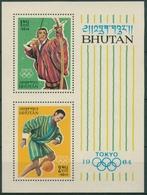 Bhutan 1964 Olympiade Bl 1 C Postfrisch (30106) - Bhoutan