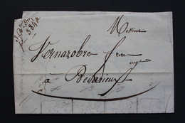 1835 LAC  DE CARCASONNE POUR BEDARIEUX  COURRIER DATE DU 02/07/1835.. - Postmark Collection (Covers)
