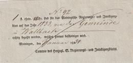 Thurn Und Taxis / 1834 / Postschein Ortsdruck Meiningen (BB16) - [1] Prephilately
